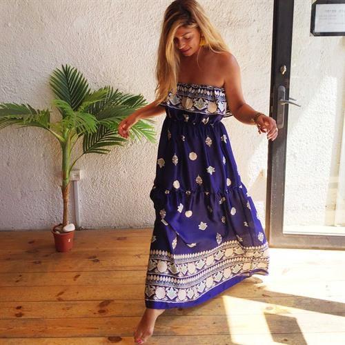 שמלת קליפורניה כחול