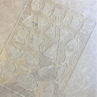 Bachelorette Party plastic Stencils Mat for Chocolate