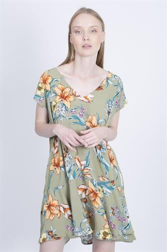 שמלת סיה פרחוני ירוק