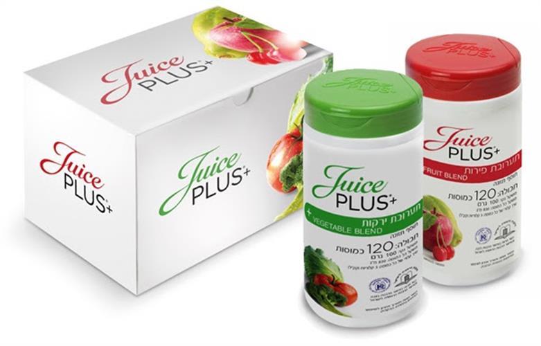 ג'וס פלוס - כמוסות פירות וירקות לגיל השלישי