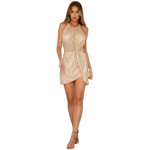 שמלה מיני מעוצבת דגם לוקס סטול