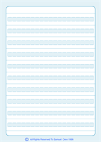 Set of 10 Broken Line Notebooks with 10 rows