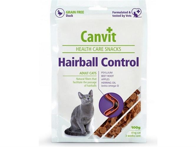 Canvit חטיף ברווז למניעת הצטברות שיער