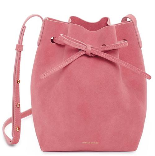 MINI BUCKET SUEDE  BLUSH - pre-order