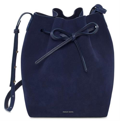MINI BUCKET SUEDE NAVY