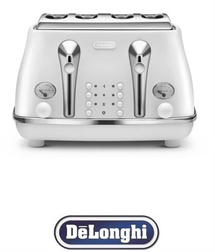DeLonghi מצנם רטרו 4 פרוסות ICONA דגם CTOE4003.W לבן