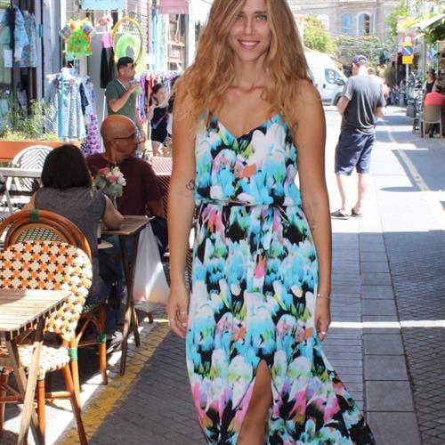 שמלת אבניו צבעונית