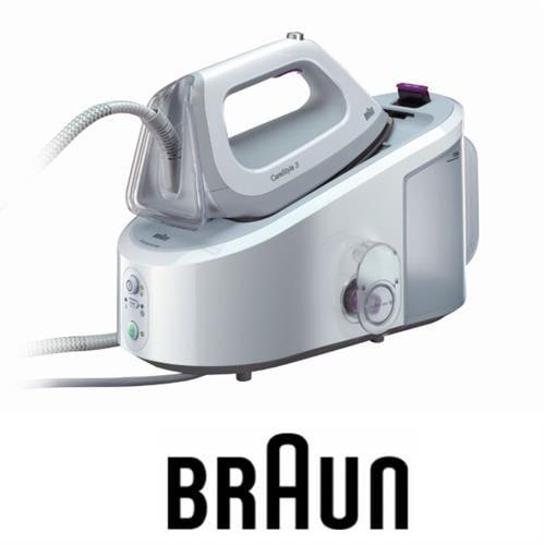 BRAUN מגהץ קיטור מקצועי בעל מיכל מים נשלף דגם IS3044