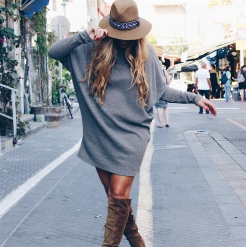 שמלת לונה חום