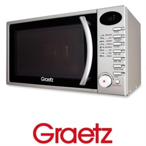 Graetz מיקרוגל דיגיטלי 20 ליטר כסוף   דגם: MW-356