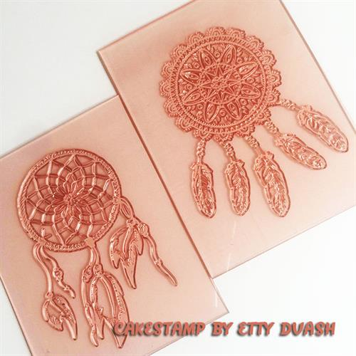 Dream catcher set of 2 stamp