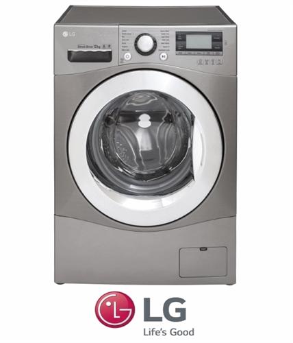 "LG מכונת כביסה 12 ק""ג דגם: F12496NS"