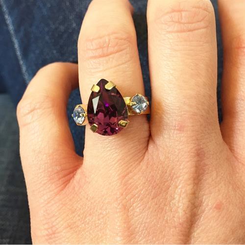 טבעת קלייר זהב סגול