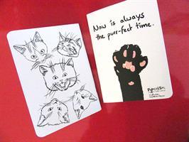 פנקס  17*12  - איור חתולים