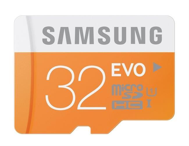 כרטיס זיכרון  micro SD 32GB SAMSUNG EVO CLASS 10