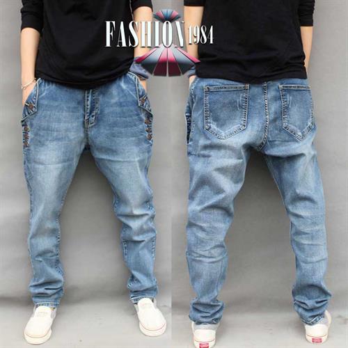 ג'ינס מעוצב דגם פייר לונד (צבע כחול)