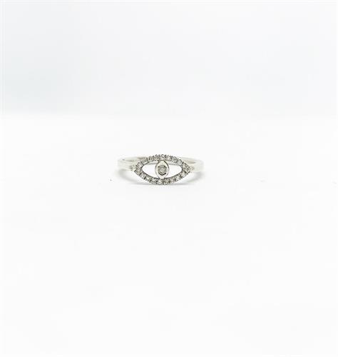 טבעת עין יהלומים לבנים