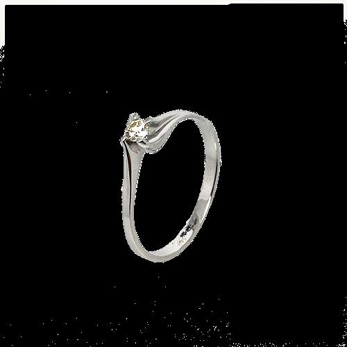 טבעת אירוסין זהב לבן 14K יהלום מרכזי MY09160053908