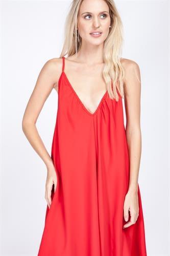 שמלת קלי אדומה