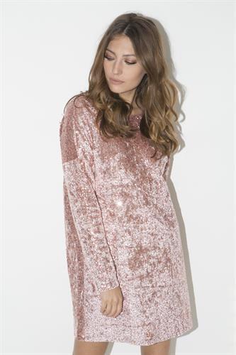 שמלת איימי ורודה