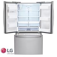 LG מקרר 3 דלתות + קיוסק דגם: GR-L262MAJ נירוסטה מוברשת מתצוגה !