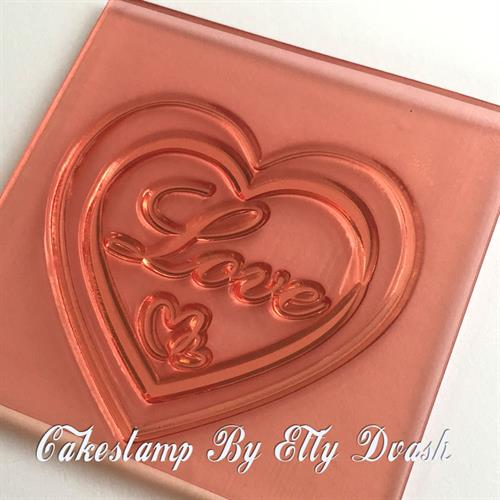 Love - Heart Frame - Chocolate Form