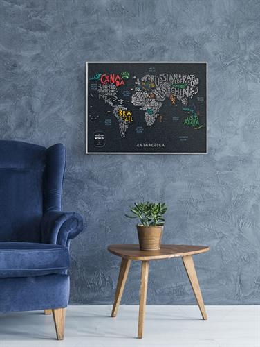 Travel Map Letters World