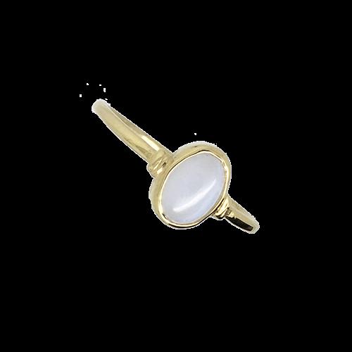 טבעת ילדות ונערות זהב צהוב 14K שיבוץ מונסטון OP02150024002