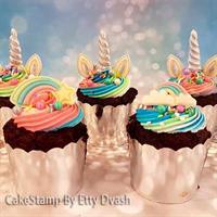 Unicorn cupcake set  for chocolate