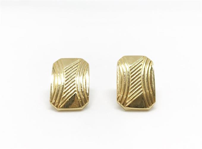 עגילי חפת גאומטרי זהב