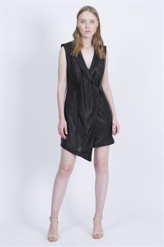 שמלת קים שחור טקסטורה
