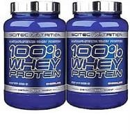 זוג אבקות חלבון סייטק נוטרישיין Scitec Nutrition 100% Whey