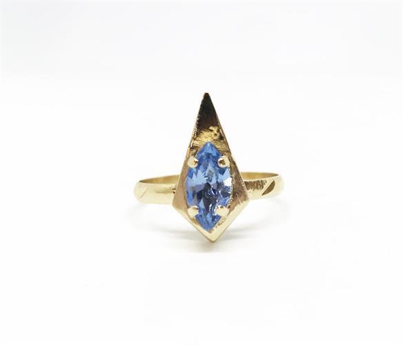 טבעת קאיה כחול זהב
