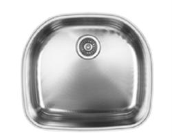 כיור UKINOX נירוסטה יחיד בהתקנה שטוחה דגם ציריך - מיוצר באירופה