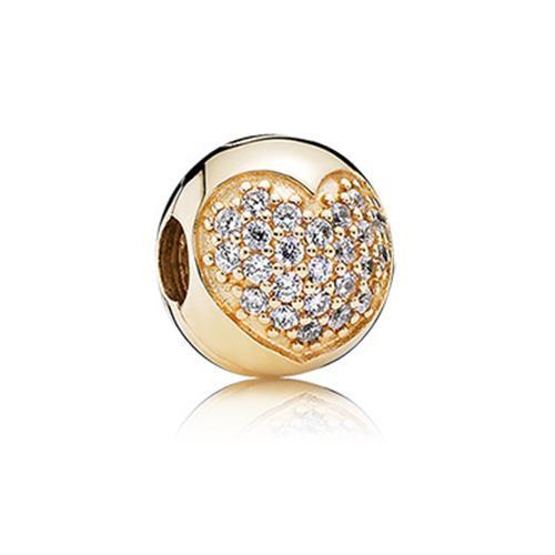 קליפס זהב לב פאווה 750832CZ