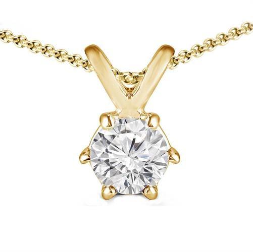 שרשרת יהלום זהב לבן | שרשרת ותליון יהלום זהב צהוב