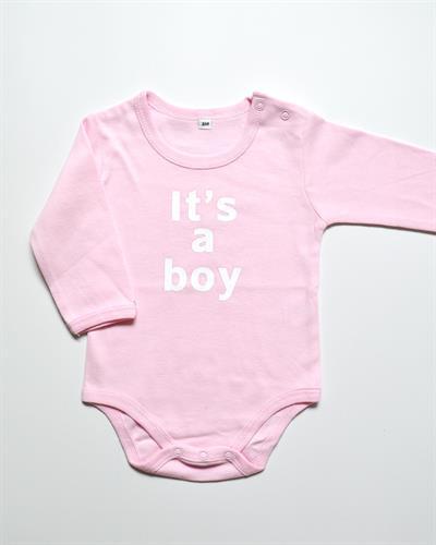 אוברול ורוד לתינוק It's a boy