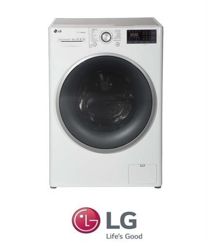 "LG מכונת כביסה 8 ק""ג + מייבש 5 ק""ג  דגם F-0805CW"