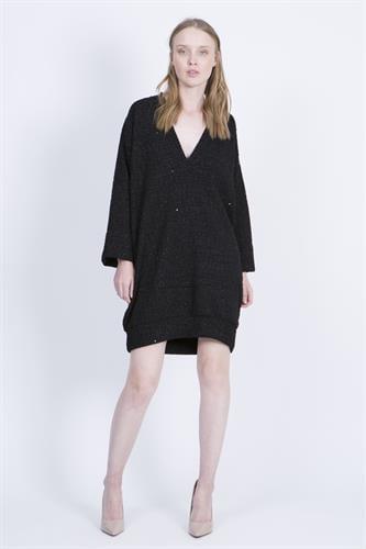 שמלת סטייסי גלאם שחורה