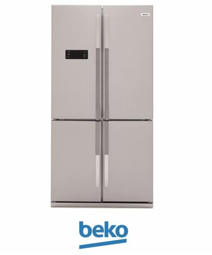 beko מקרר 4 דלתות דגם: GNE114611X צבע נירוסטה
