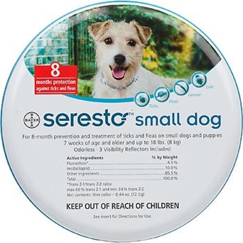 """סרסטו קולר הדברה לכלב עד 8 ק""""ג"""