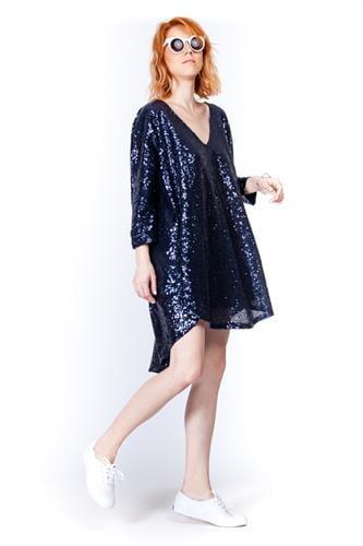 שמלת פייטים קווין כחולה