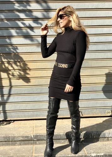 שמלת קארן שחור