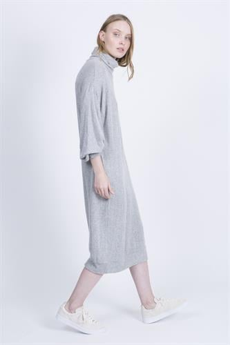 שמלת רבקה אפור בהיר