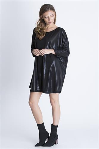 שמלת גארד שחור מבריק