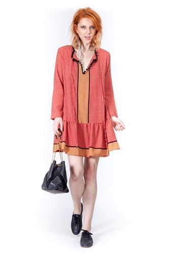 שמלת אלינה אדום