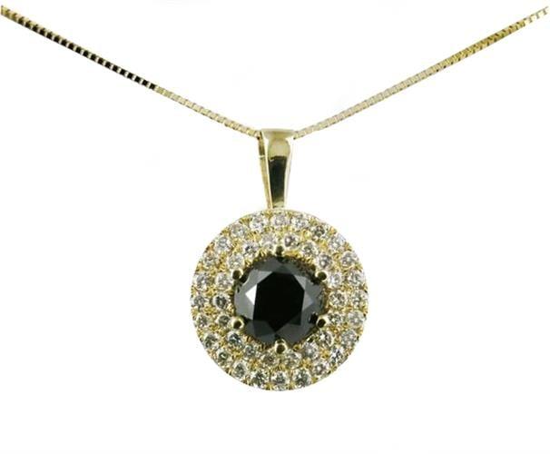 שרשרת יהלומים בזהב צהוב 14K משובץ 1.40 קראט יהלומים