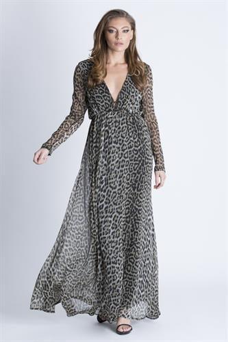 שמלת קארה מנומרת
