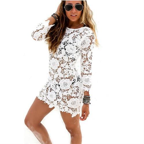 שמלת חוף מעוצבת דגם אולביה ניס ׁ(צבע לבן)