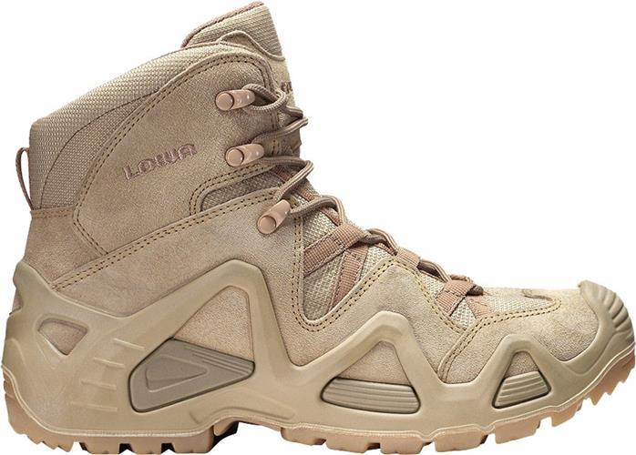נעליים טקטיות  הרים לואה חום בהיר מדברי  LOWA Zephyr  Mid Desert